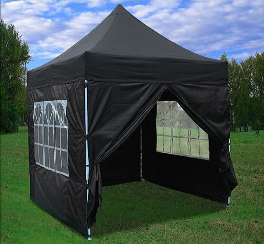 8 X8 Black Pop Up Tent Basic Deltacanopy