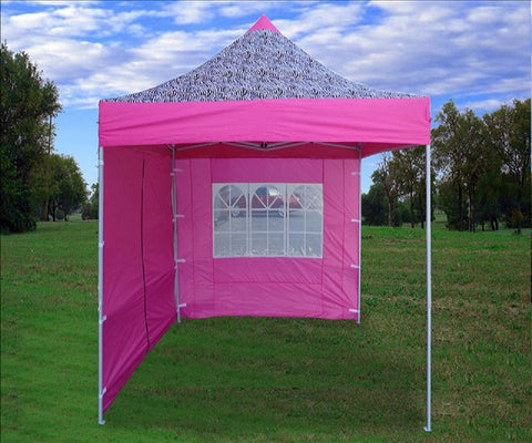 8'x8' Pink Zebra - Pop Up Tent Basic