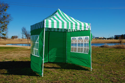8'x8' Green Stripe - Pop Up Tent Basic