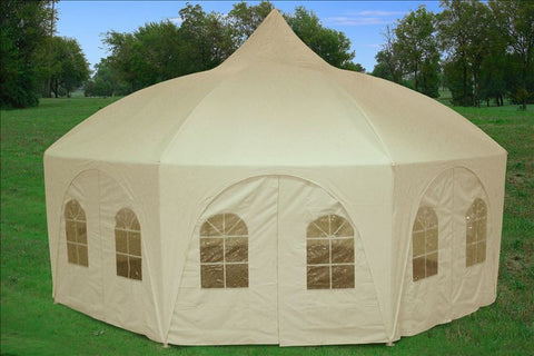 20'x20' Octagonal Party Tent - Cream