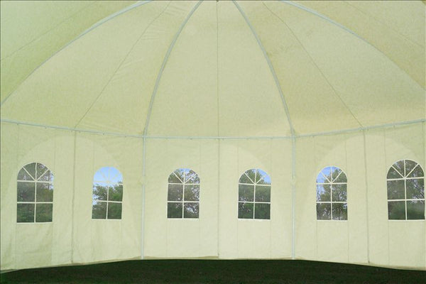 20 X20 Octagonal Party Tent Cream Deltacanopy