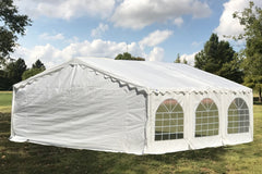 Budget PE Party Tent 20'x20' with Waterproof Top - White