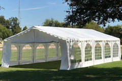 Budget PE Party Tent 32'x16' with Waterproof Top - White