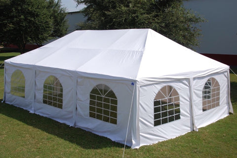 Frame PVC Tent Party Wedding Canopy Shelter White - Storage Bags Included - 30'x20', 40'x20'