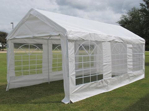 PE Party Tent 20'x10' (2010T) - White