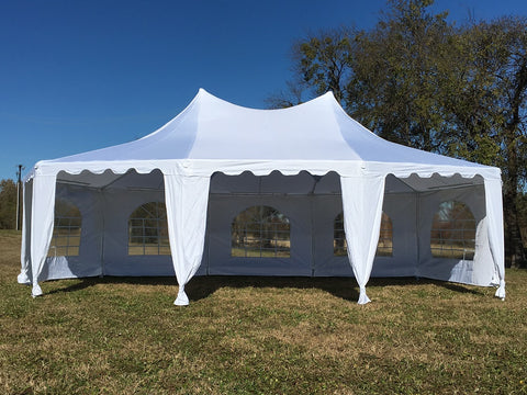 Poly Decagonal 29'x21' White - Party Tent