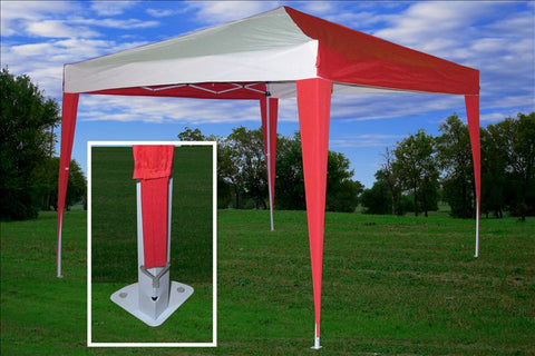 CS N 10'x10' Red White - Pop Up Tent
