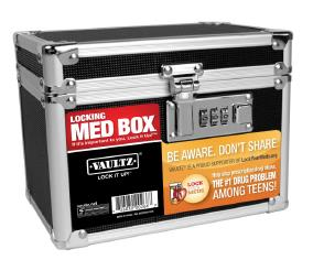 Vaultz - 5x7 Locking Medicine Case [Pack of 4]