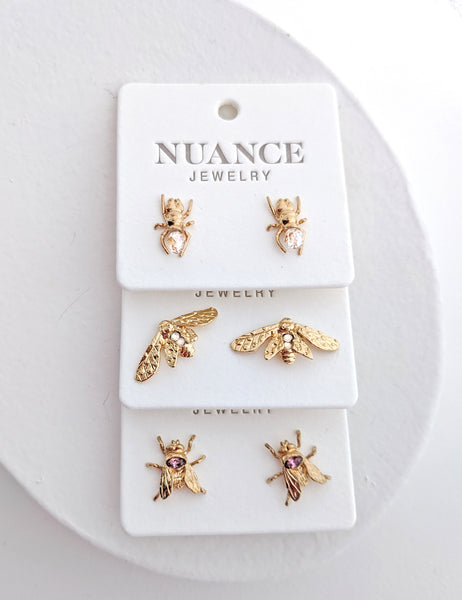Bug Post Earrings