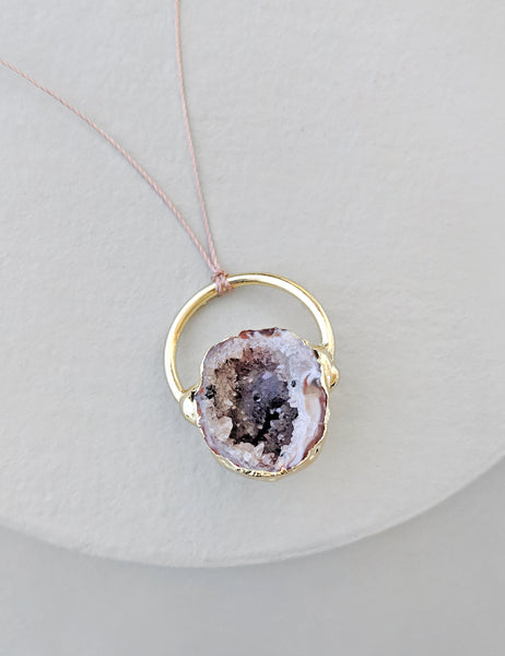 Geode Cave Ring Necklace