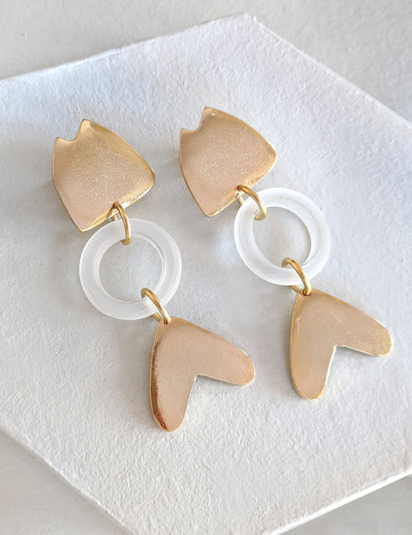 Fish Cutout Earring - Glass
