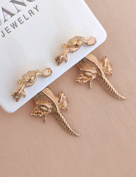 Hanging Lizard Earring