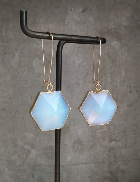 Hexagon Point Earrings | More Colors