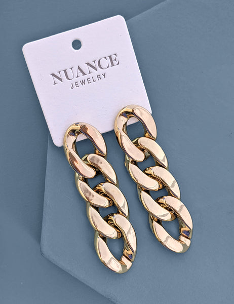 Large Chain Link Earrings