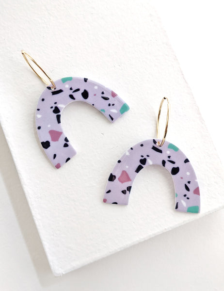 Speckled Arch Hoops