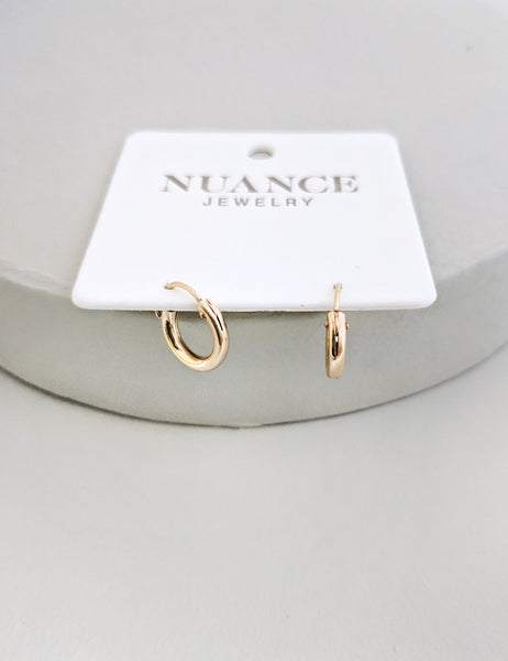 Tiny Snap Hoops | Gold-Filled