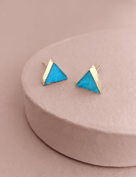 Triangle Turquoise Posts