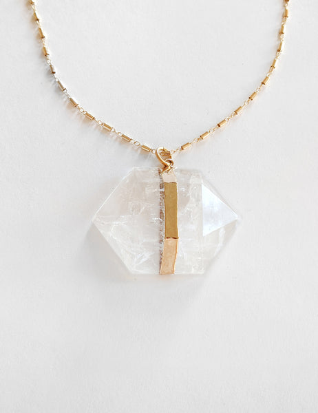 Geometric XL Crystal Necklace