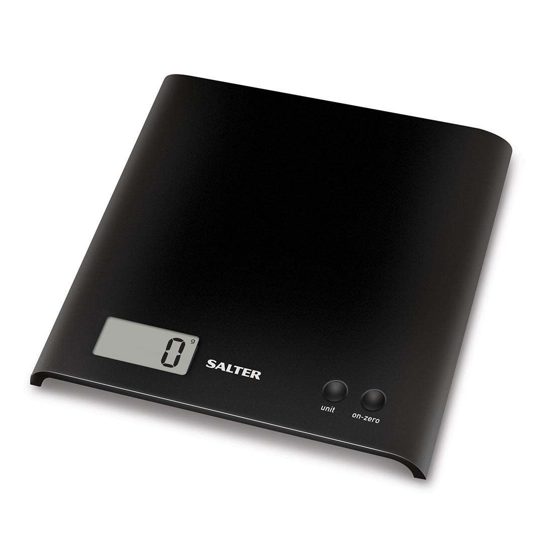Salter Arc Digital Kitchen Scales – Electronic Food Weighing, Slim Design Cooking Scale Appliance for Home, LCD Display, 15 Year Guarantee, Black | 1066