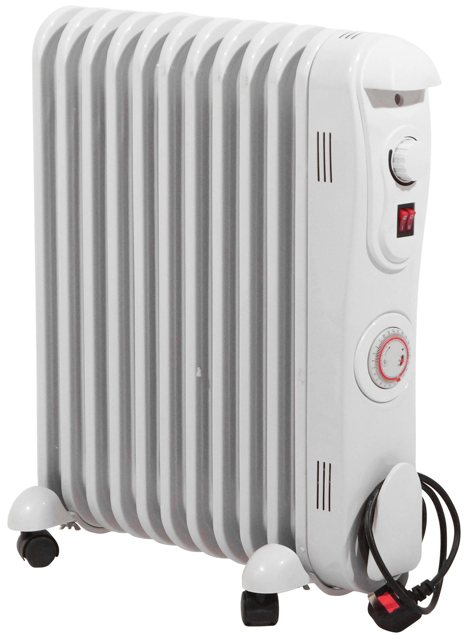 Prem-I-Air Fin Oil Filled Radiator 2.5 kW 11 with 24 Hour Timer | EH1846