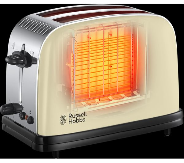 Russell Hobbs Colours Plus 2-Slice Toaster, Cream | 23334
