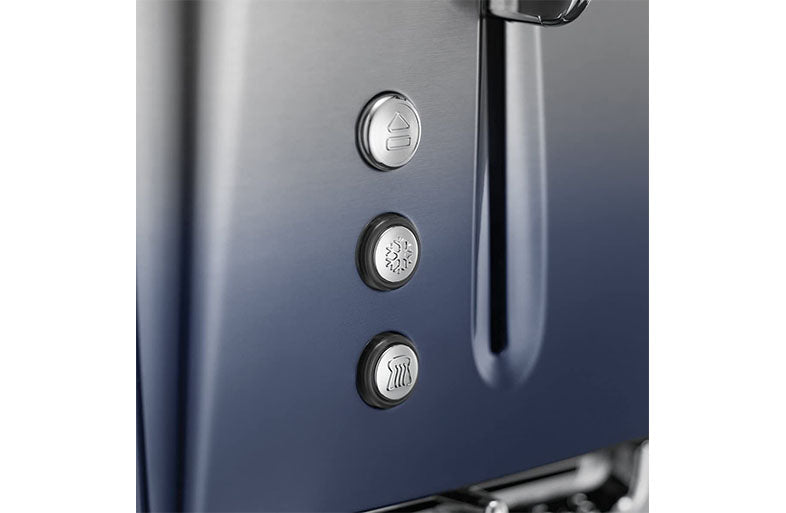 Russell Hobbs Midnight Blue Eclipse Polished Stainless Steel Ombre Four Slice Toaster | 25141