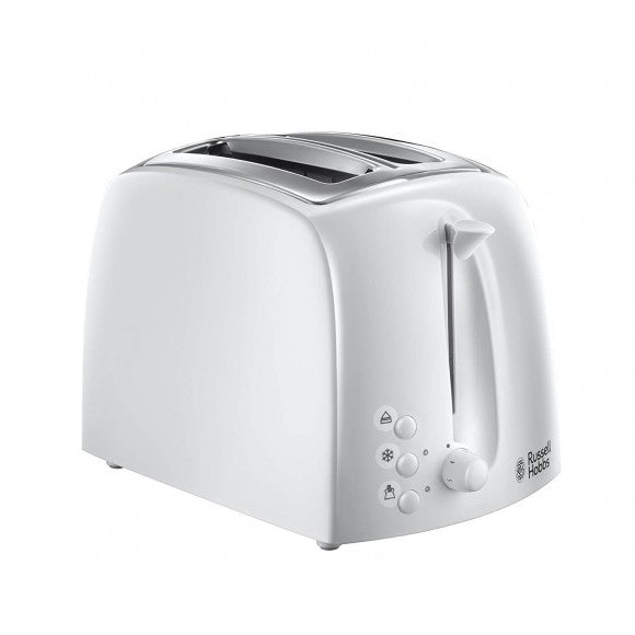 Russell Hobbs Two Slice Textures Toaster, White | 21640