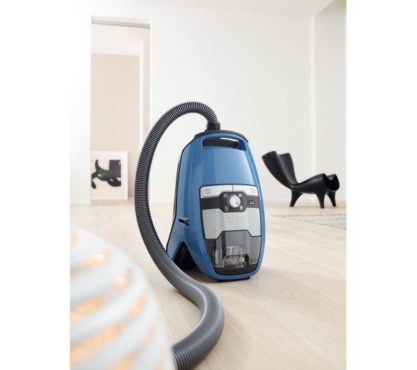 Miele Blizzard CX1 PowerLine Bagless Cylinder Vacuum Cleaner, Blue | CX1BLIZZPWR