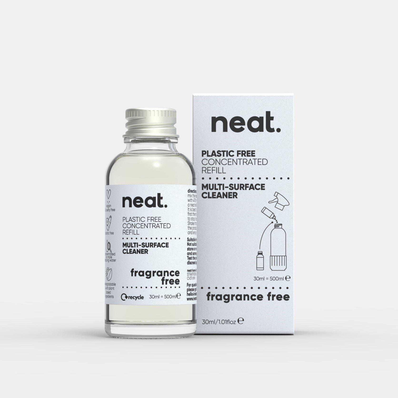 The 3x Fragrance-Free Concentrated Refill Bundle-NeatClean-antibac cleaner fresh recyclable enviromental-NeatClean