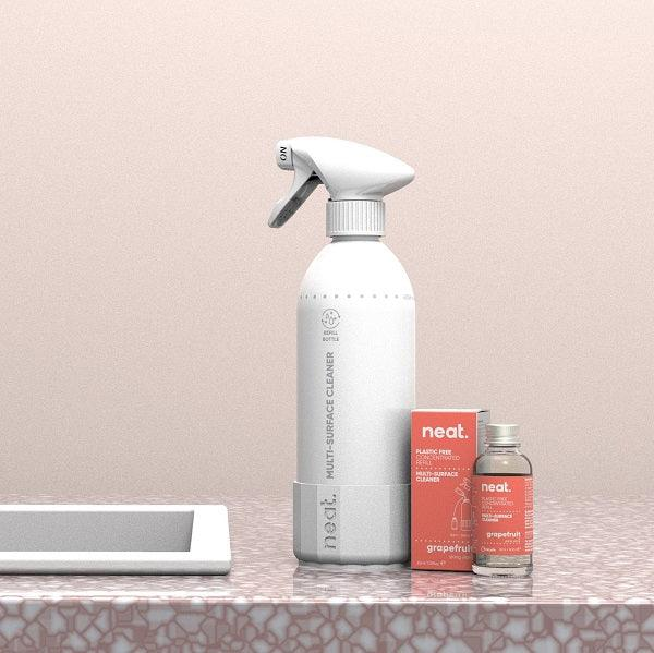 The Complete Set Grapefruit-Multi-surface cleaner-NeatClean-antibac cleaner fresh recyclable enviromental-NeatClean