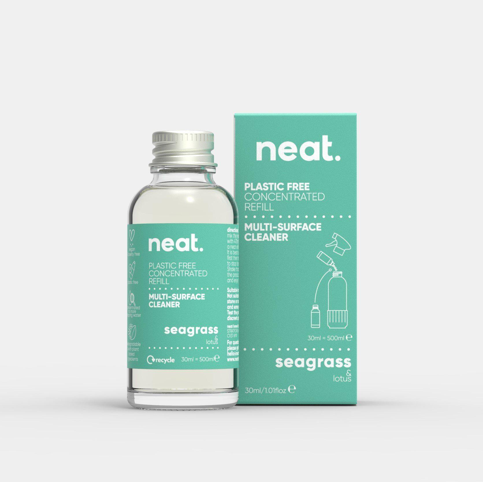 The 3x Seagrass Concentrated Refill Bundle-NeatClean-antibac cleaner fresh recyclable enviromental-NeatClean
