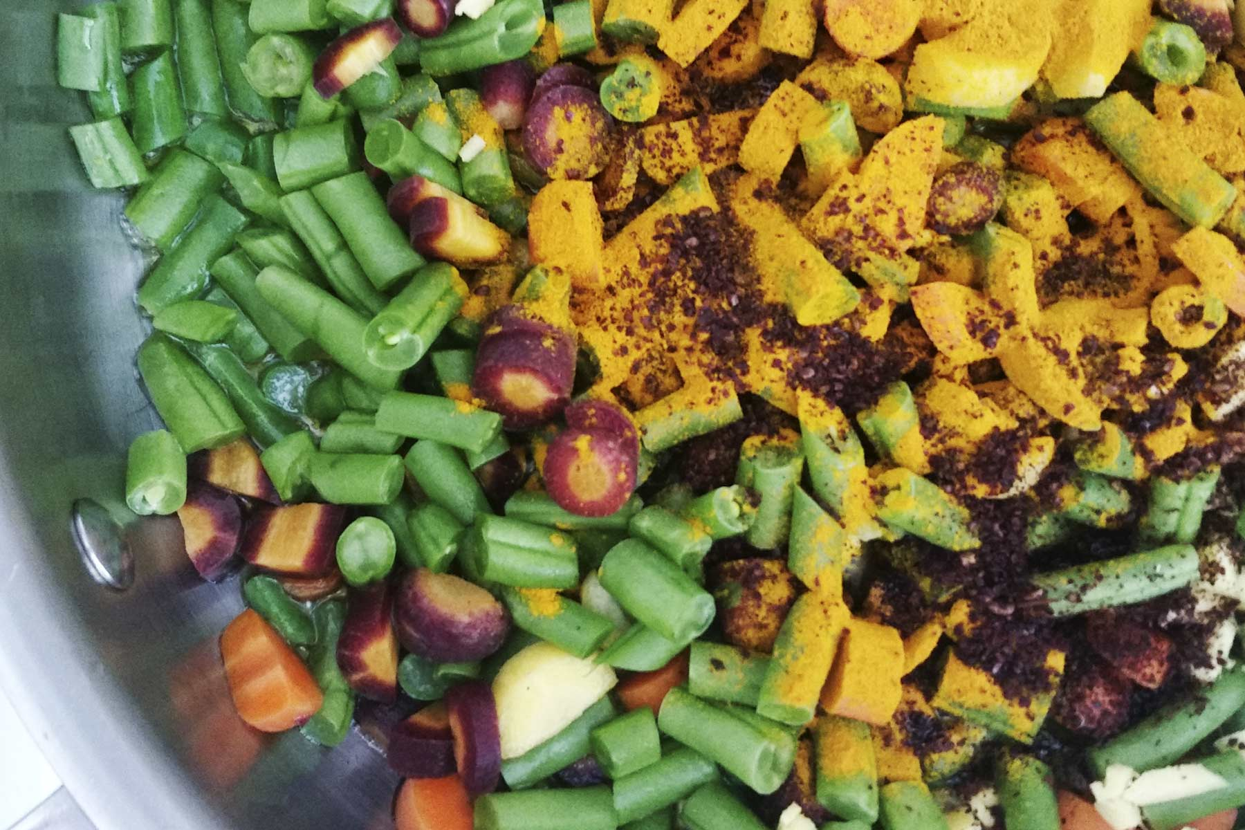 Turmeric and Veggies