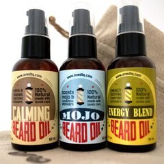 Beard Oil Triple Set: Energy, MOJO & Calming - by OneDTQ - Best Beard Care