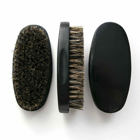 Beard Brush - 100% Natural Boar Bristles - by OneDTQ - Best Beard Care