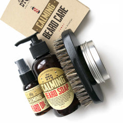 Calming Beard Grooming Kit: Beard Soap, Beard Oil, Mustache Wax & 100% Natural Boar's Hair Beard Brush - OneDTQ - Best Beard Care  - 2