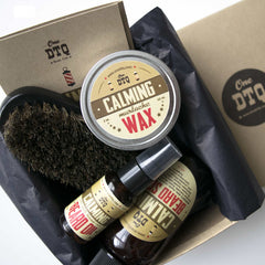 Calming Beard Grooming Kit: Beard Soap, Beard Oil, Mustache Wax & 100% Natural Boar's Hair Beard Brush - OneDTQ - Best Beard Care  - 3