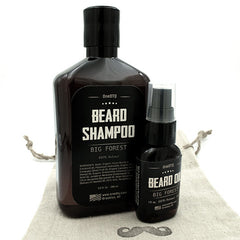 Beard Care Kit: Big Forest Beard Shampoo & Beard Oil - OneDTQ - Best Beard Care  - 4
