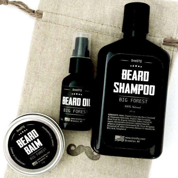 big forest beard care kit beard wash beard oil beard balm onedtq best beard care. Black Bedroom Furniture Sets. Home Design Ideas