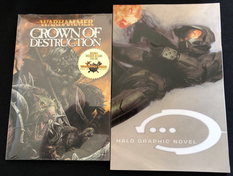 Video Gaming Graphic Novel Sampler Gift Set Featuring X-Box's Halo
