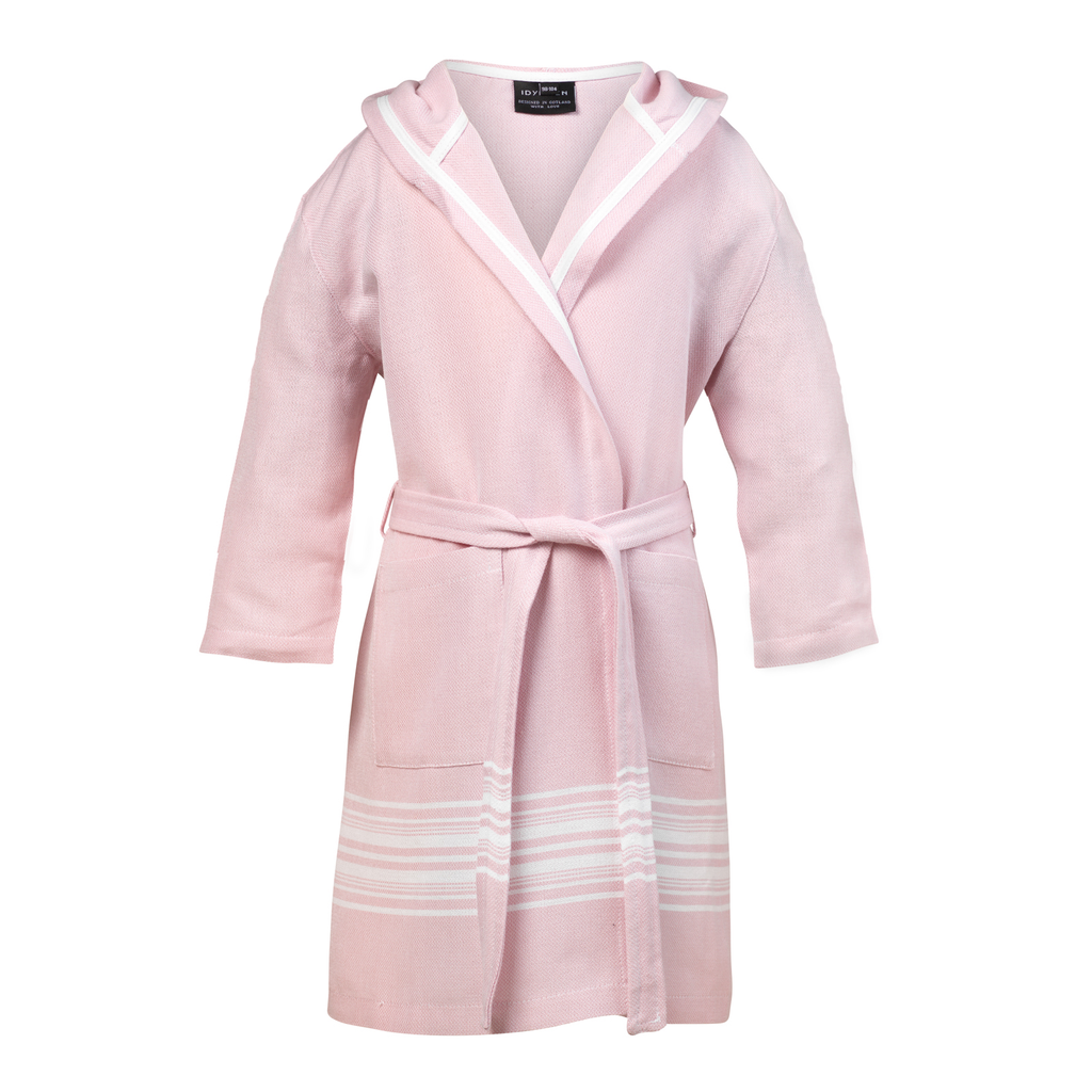Children's bathrobe stripe, Light Pink