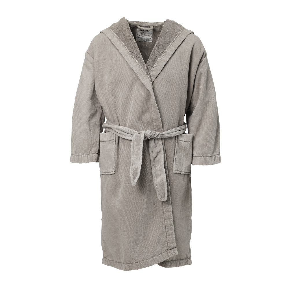 Children's bathrobe eco terry, Sand beige