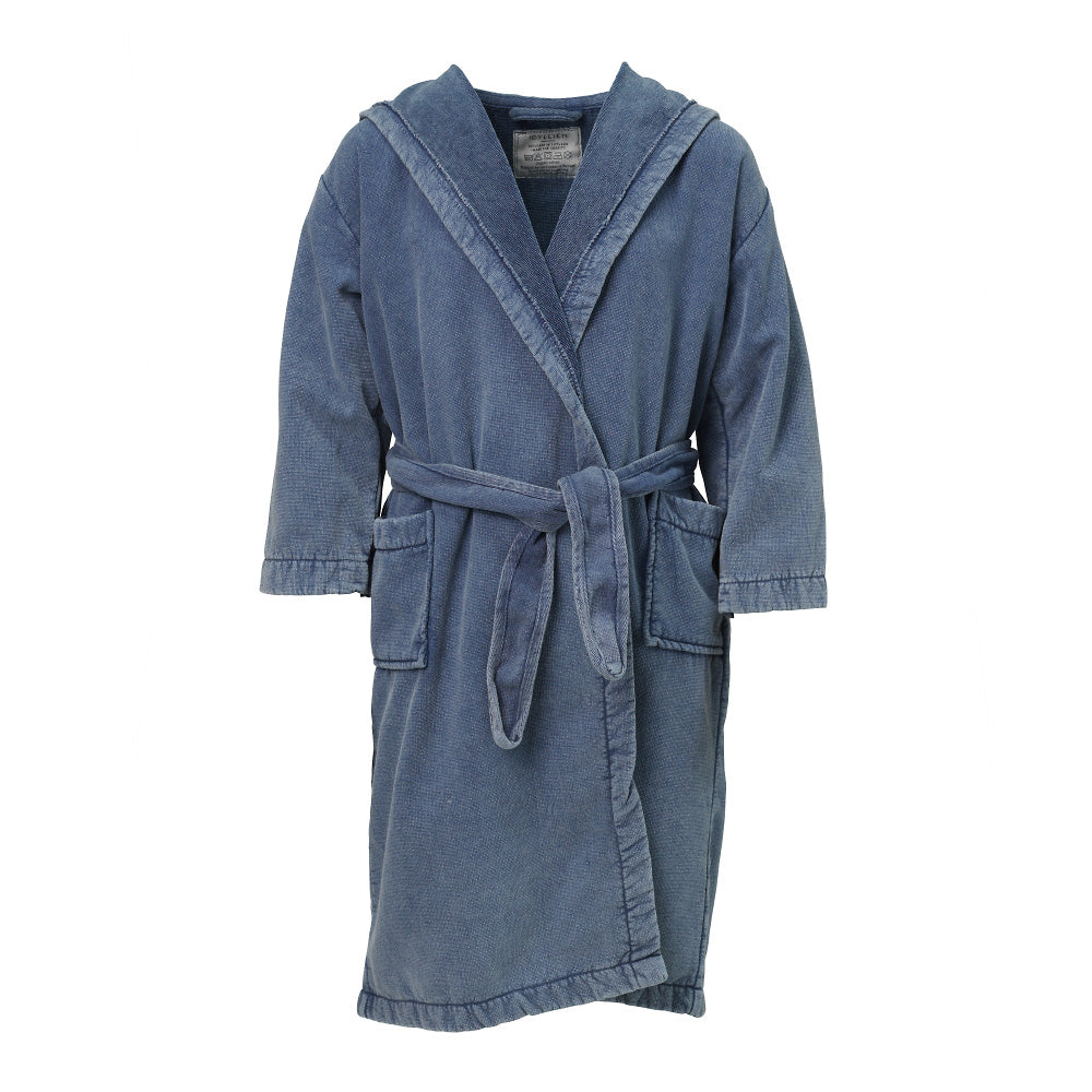 Children's bathrobe eco terry, Denim
