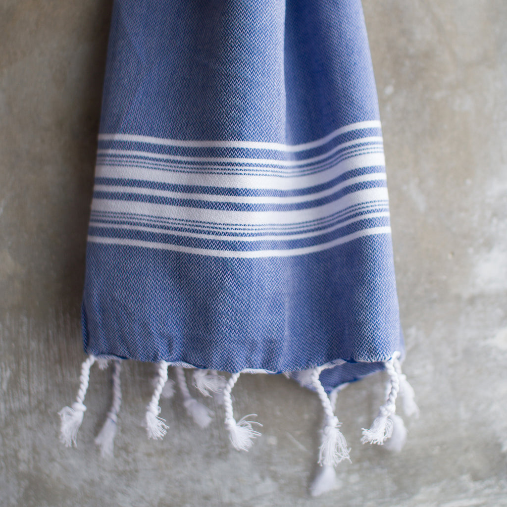 Towel, denim blue