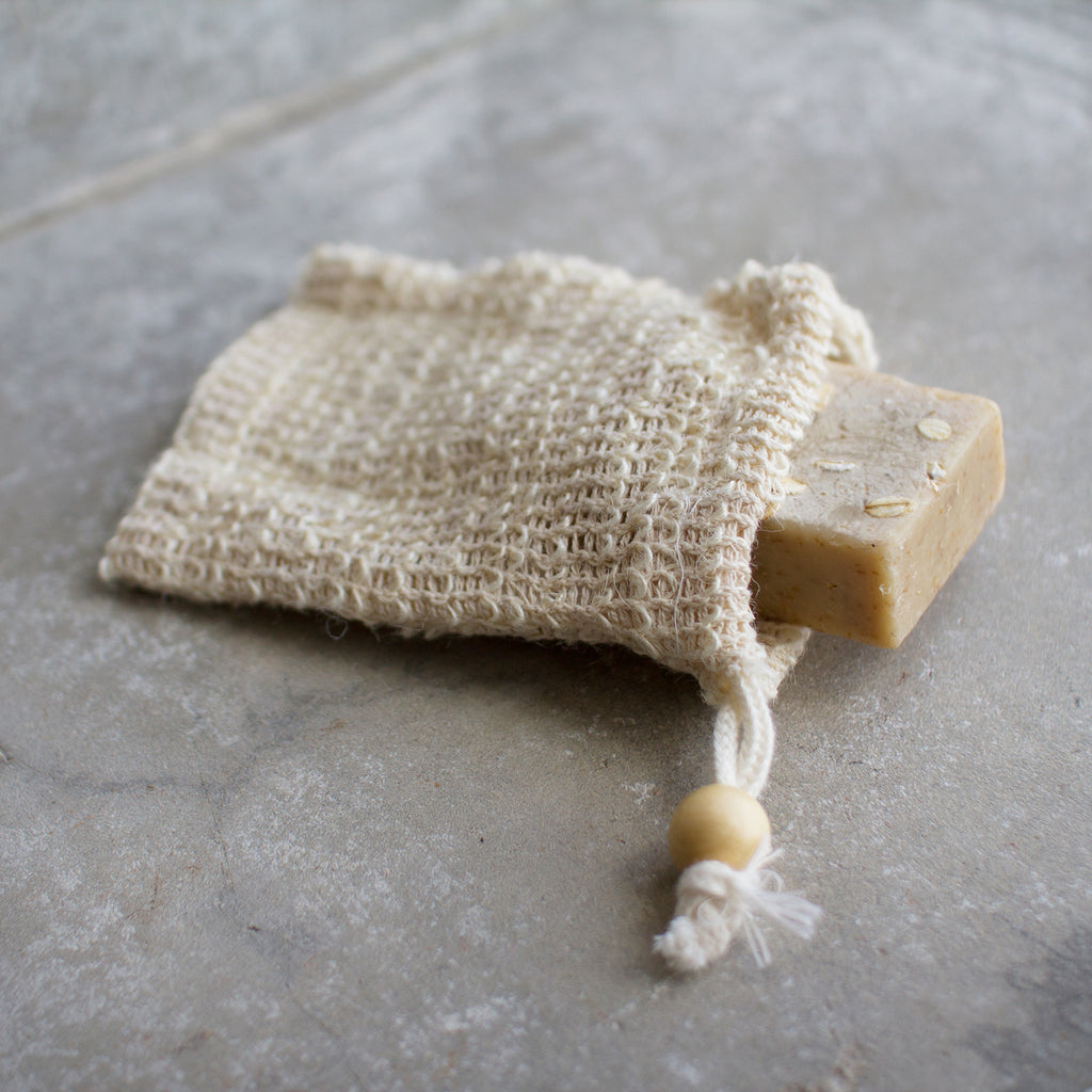 Soap bag in sisal