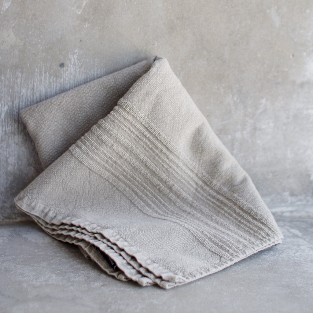Towel eco terry cloth, sand beige