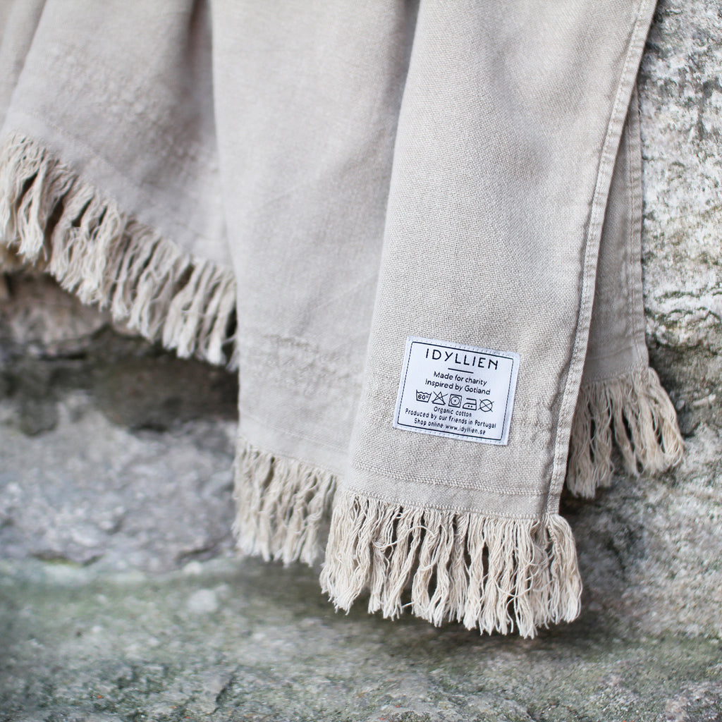 Bath towel Tofta Eco, limestone