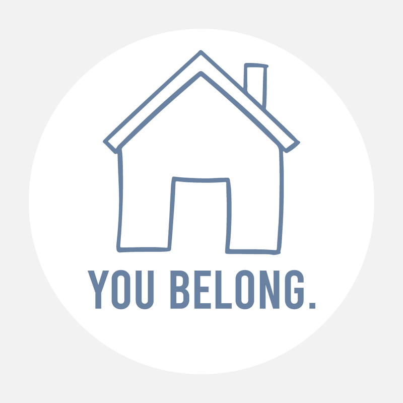 3x3 You Belong Round Sticker