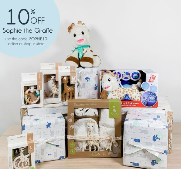 Sophie the Giraffe Turns 60: Baby Gifts at 10% Off!