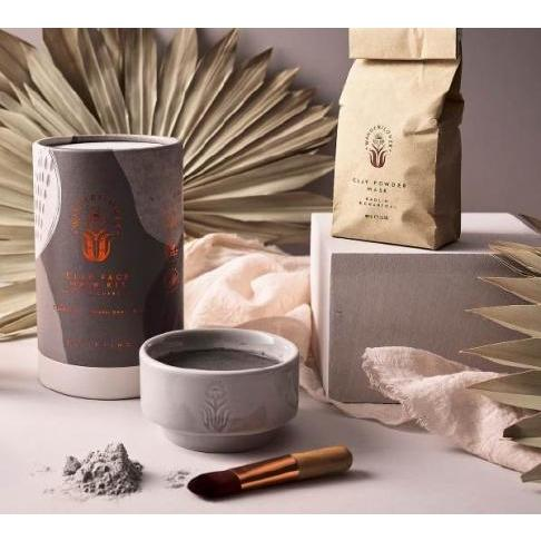wanderflower diy clay face mask kit