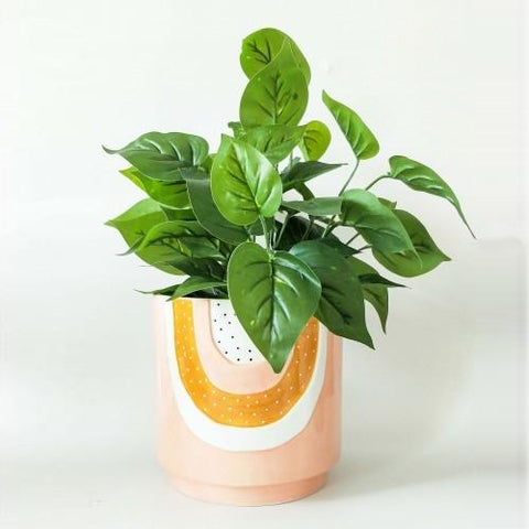 Woodstock Pink Rainbow Planter